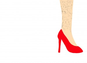 Women faced with a hairy situation