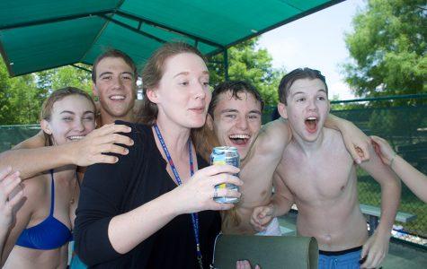 Making a splash at the Senior Pool Party