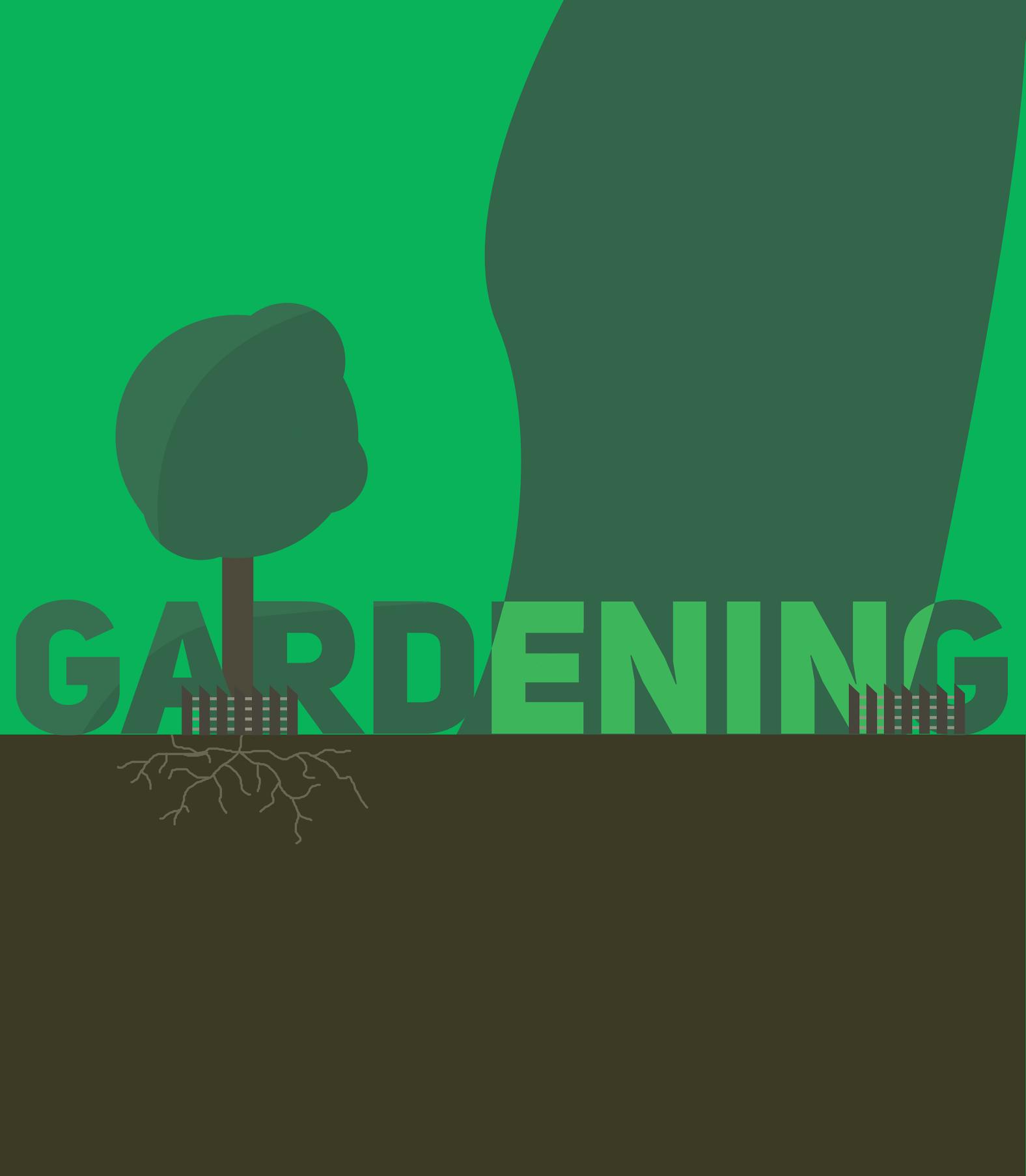 Gardening graphic by Carlin Bausch-Sanchez