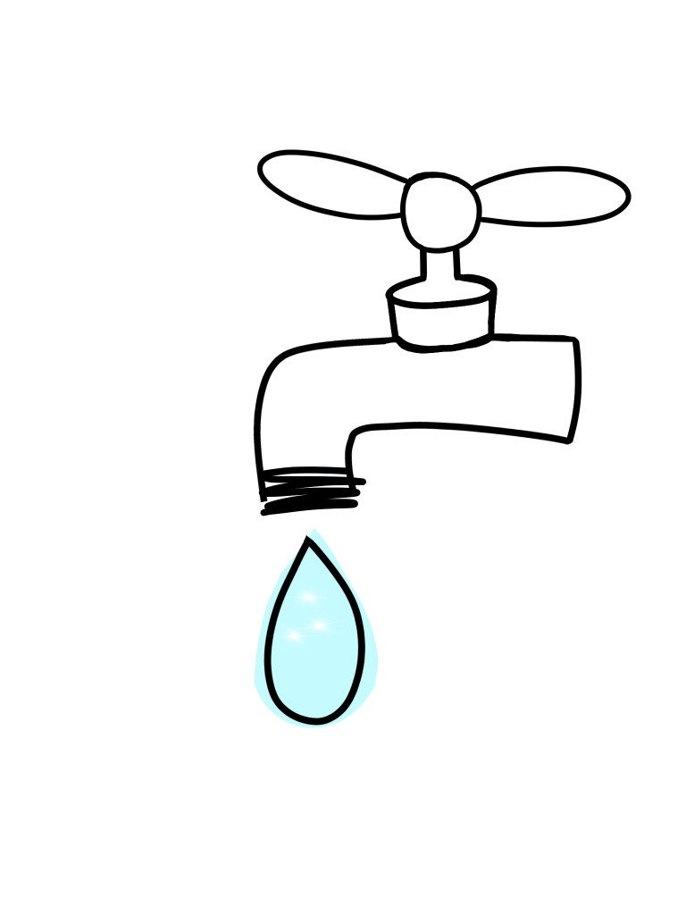 Image result for turn on the faucet drawing