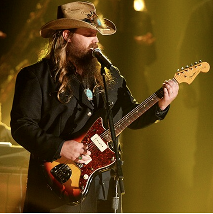 Chris Stapleton performing at the CMA Awards.