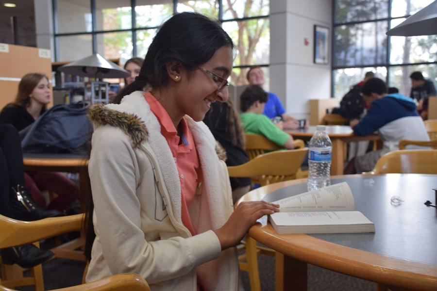 Bhatia takes time off from school work to read for pleasure.