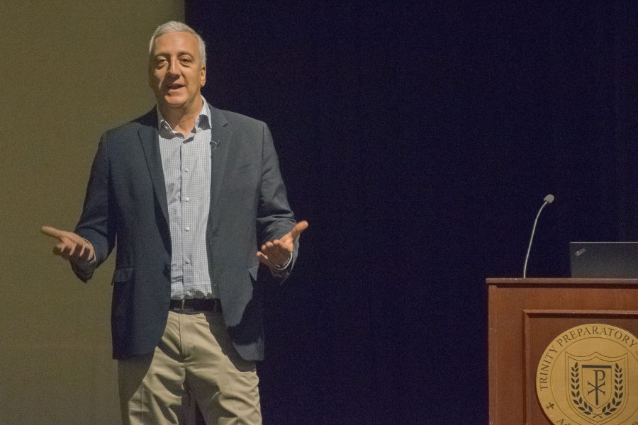 Massimino+delivers+an+inspiring+speech+to+a+school+wide+assembly.+