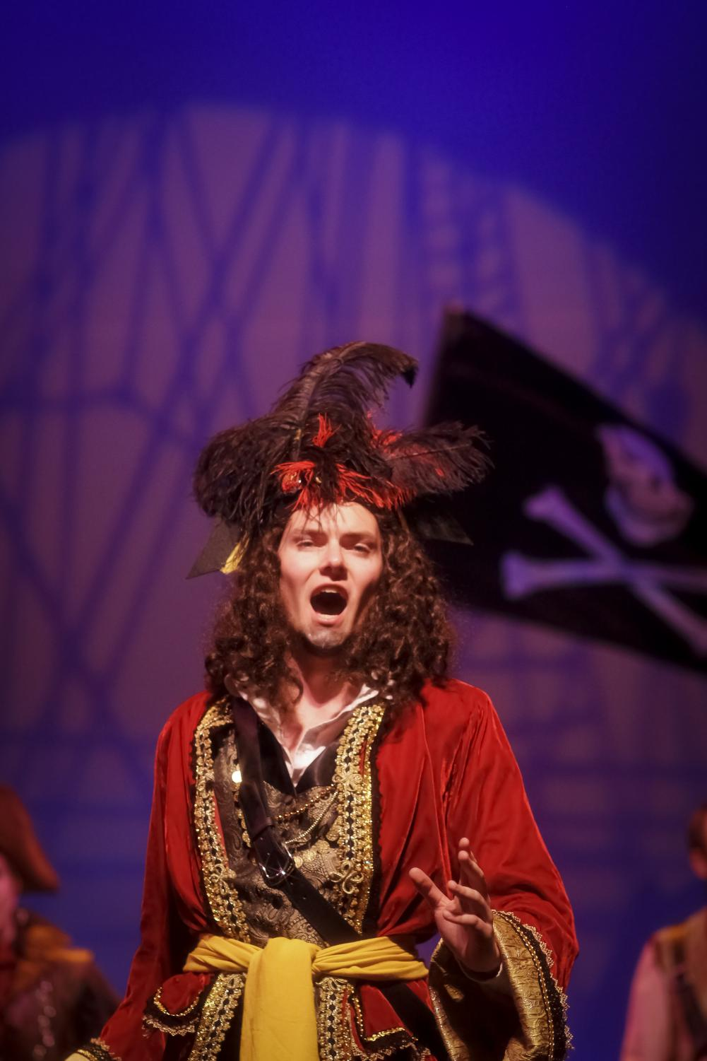 Senior Jonathan Gant stars as The Pirate King.