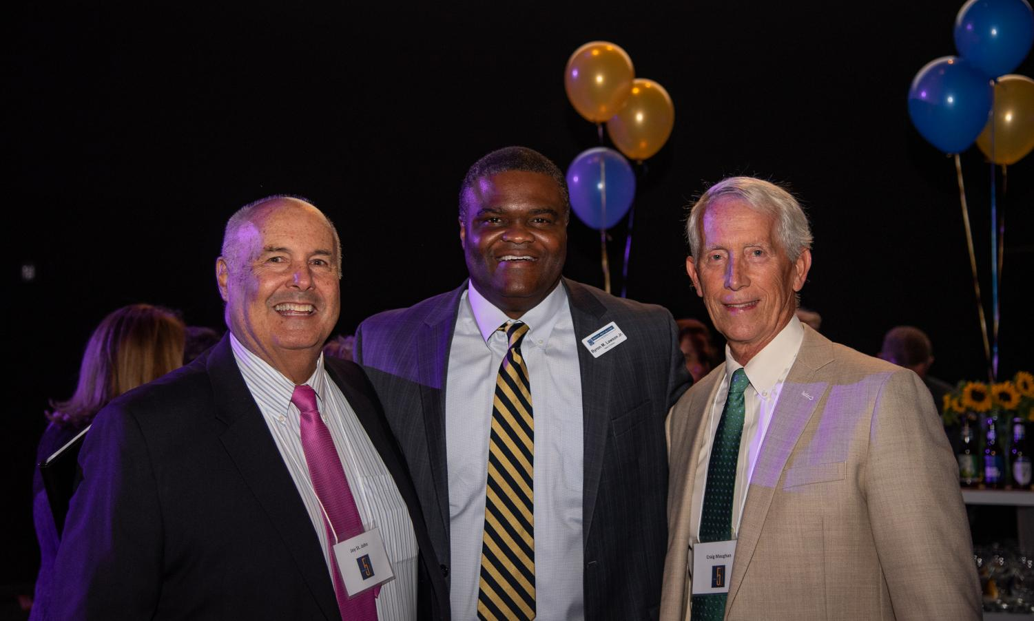 Jay St. John, Byron Lawson and Craig Maughan all attended the Golden Jubilee. In a video shown at the program, the three of them shared their thoughts about Trinity's growth throughout the years.