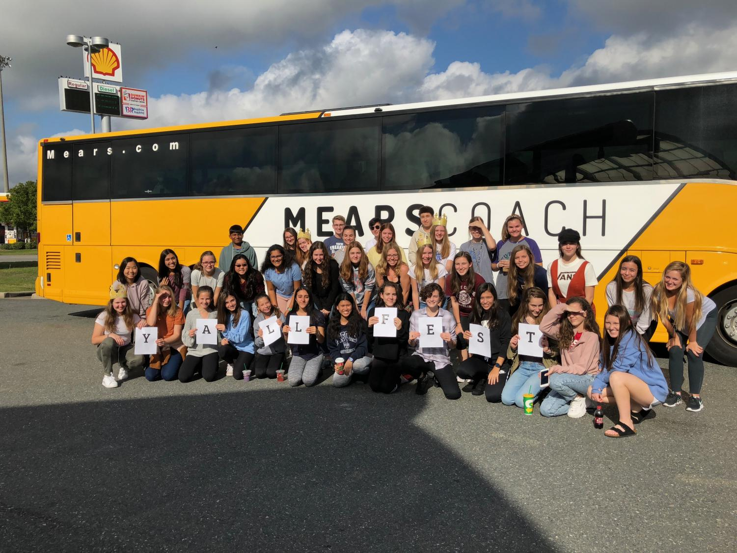 The group of students that went to YALLFest traveled to Charleston, South Carolina on a six-hour bus ride. Many of them were looking forward to meeting their favorite authors.