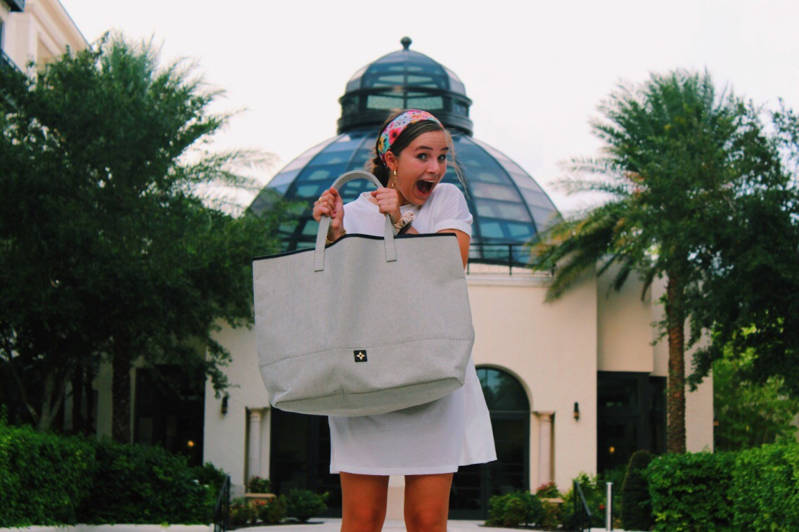 Junior Annabelle Lawton regularly holds product shows to promote the brand India Hicks. She has been working with the company since August.