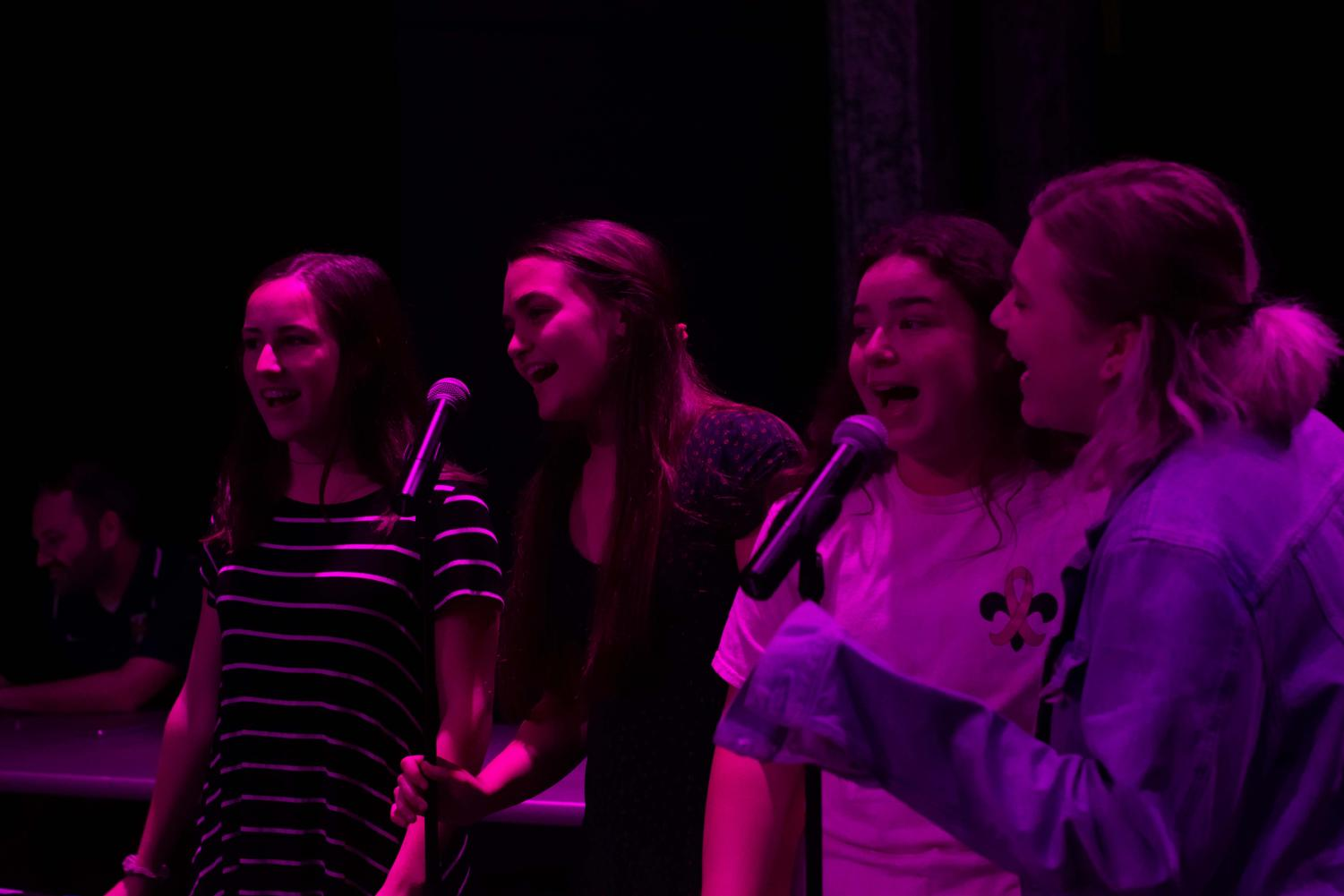 A group of students sang TLC's