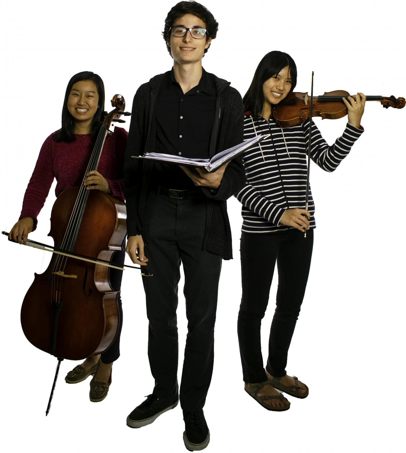 Lillian Pope (left), Daniel Galvez (middle) and Marion Pope (right) participate in national events for their artistic talents.