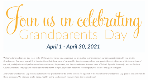 This is a screenshot of the website that was released on April 1 for Grandparents