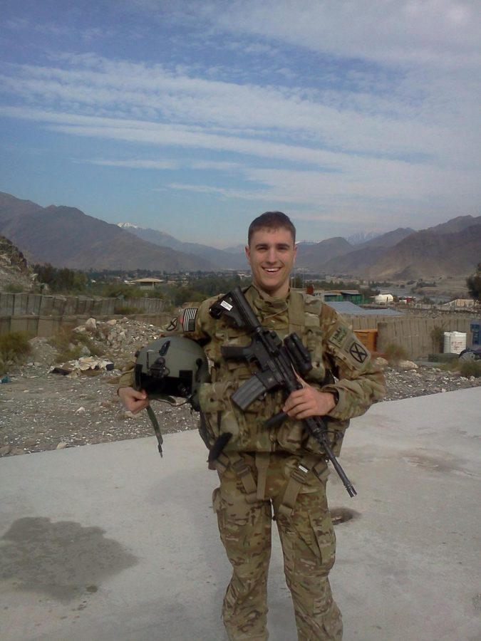 Trinity Alum Chuck Nadd served in Afghanistan in 2013 and 2018.