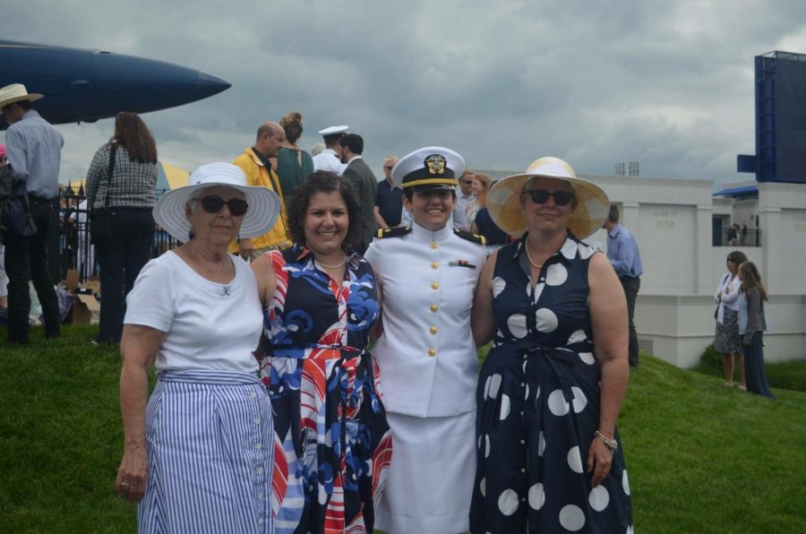 Tracy Bonday (far right) attends her daughter's Commissioning Ceremony at the United States Naval Academy in Annapolis, MD in May 2017.