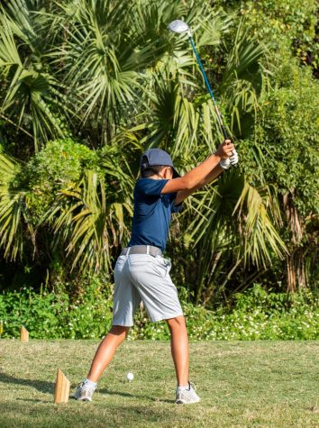 7th grader Luke Kang played at Twin Rivers golf course as the number one seed against The Masters Academy on the 7th of October. Luke is one of the youngest players and top performers on the team.